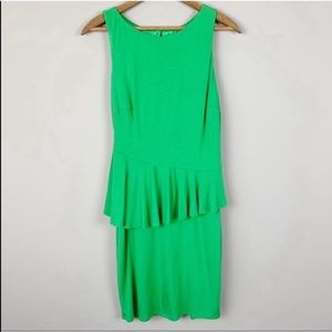 Laundry by Shelli Segal Green Peplum Dress